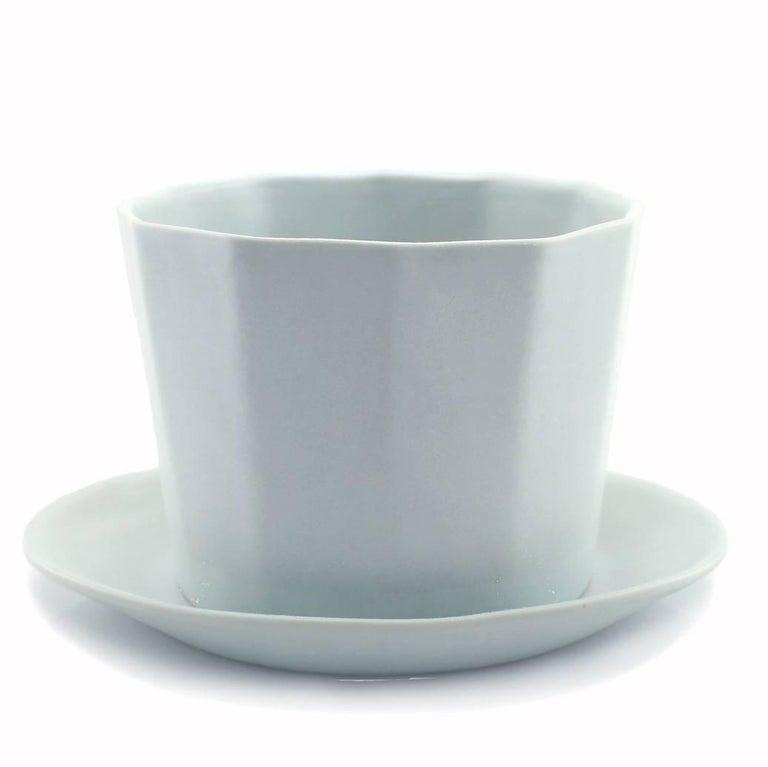 Native Planter White Crystal Planter Modern Contemporary Glazed Porcelain For Sale 4