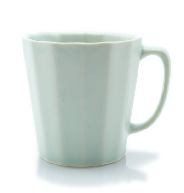 Monday Mug Sundog Pink and Silk White Matte Set of Eight Coffee Mugs For Sale 6