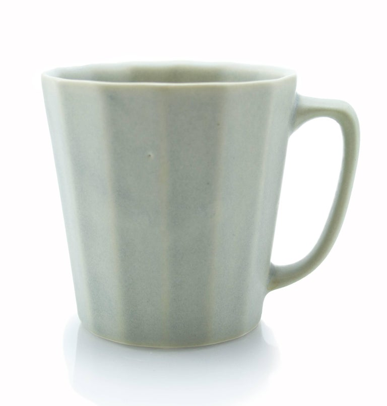 Monday Mug Sundog Pink and Silk White Matte Set of Eight Coffee Mugs For Sale 7