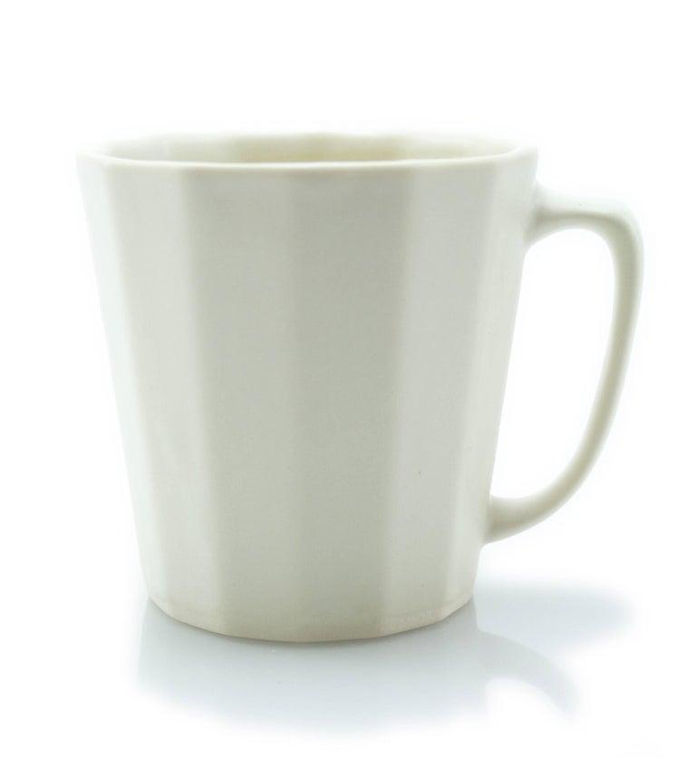 Monday Mug Sundog Pink and Silk White Matte Set of Eight Coffee Mugs For Sale 8