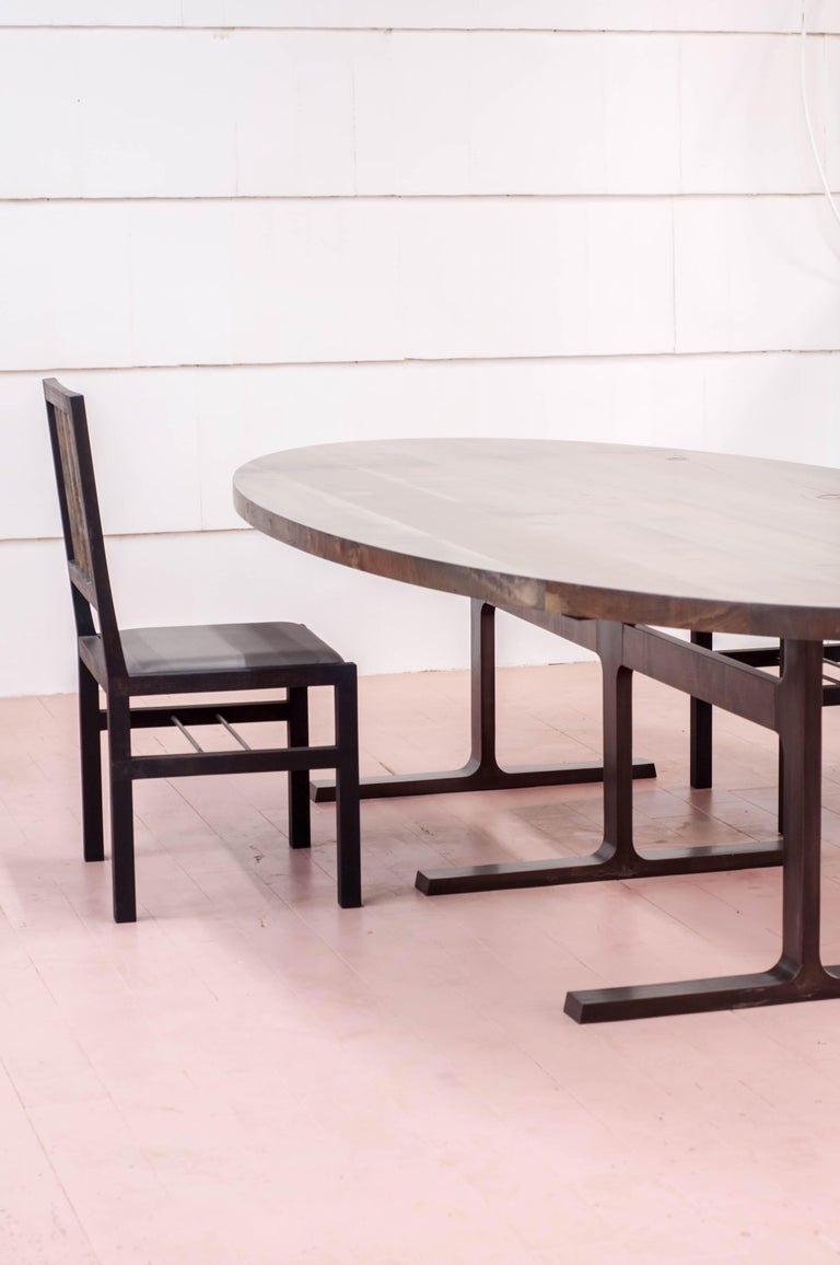 Bronze Shaker Table in Oxidized Maple and Blackened Cast Bronze For Sale 10
