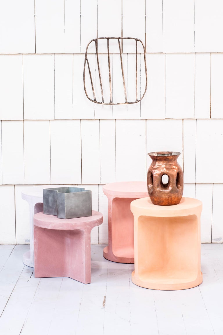 Canadian Neolith Stool in Natural Pigments For Sale