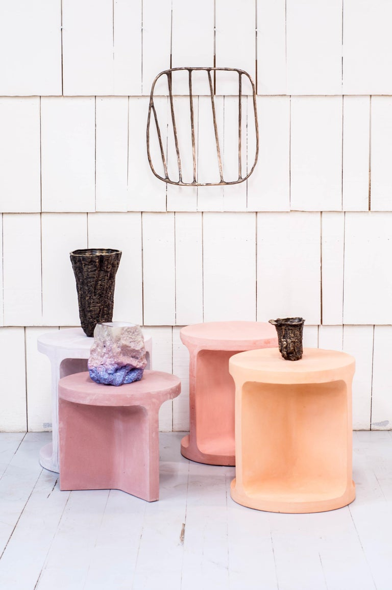 Neolith Stool in Natural Pigments In New Condition For Sale In Vancouver, BC