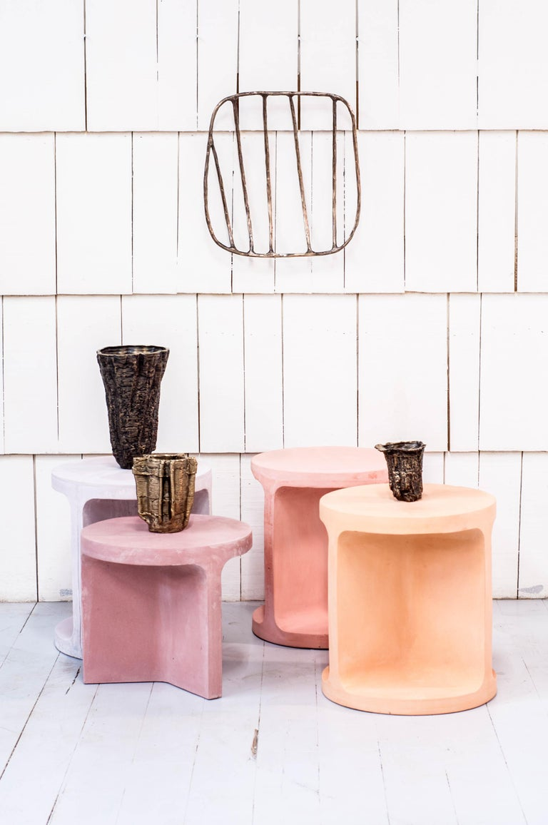 Contemporary Neolith Stool in Natural Pigments For Sale