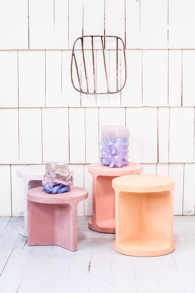 Cement Neolith Stool in Natural Pigments For Sale