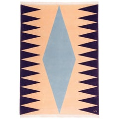 """Interior (Pink)"" Hand-Knotted Wool Rug by Carpets CC"