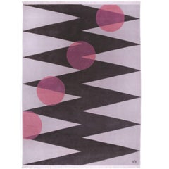 """""""Itinerary (Pink)"""" Hand-Knotted Wool Rug by Carpets CC"""