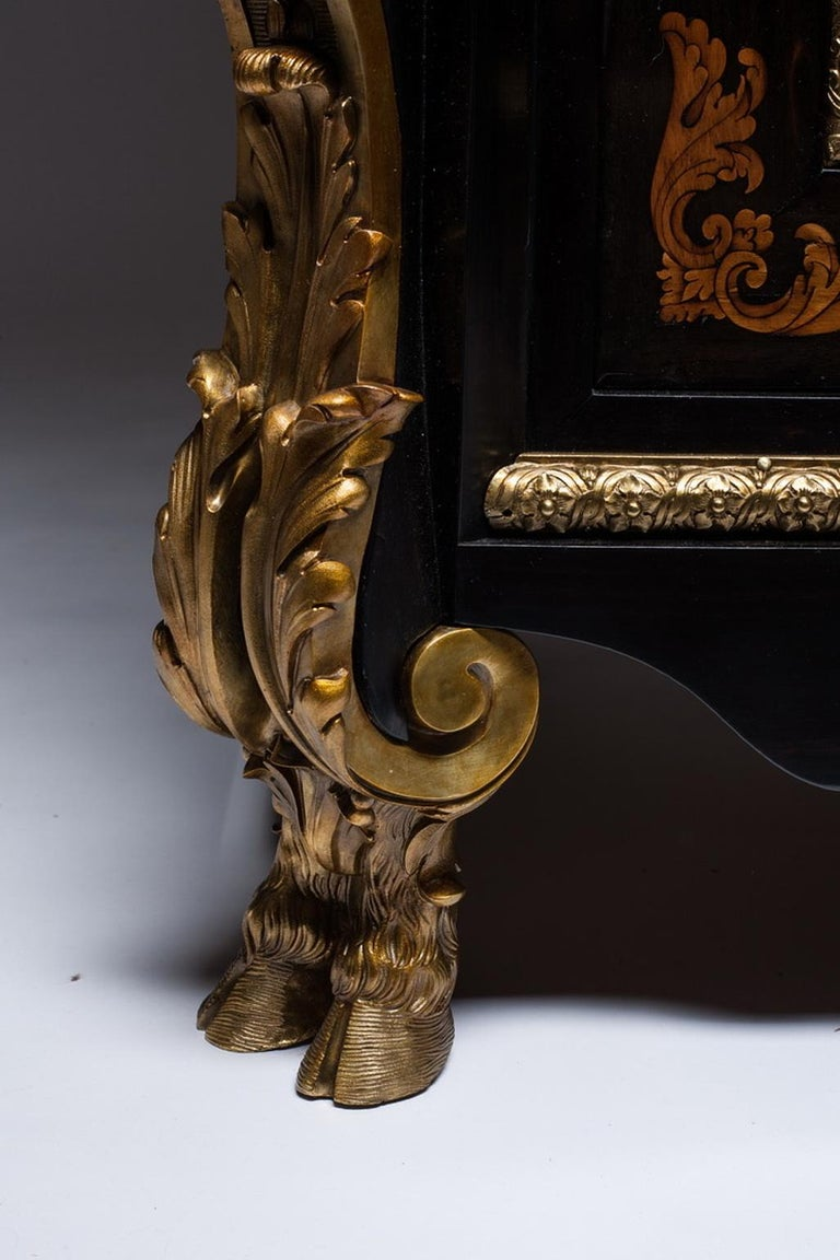 Late 19th Century Marquetry Cabinet, Attributed to P. Sormani, France, 1870 For Sale