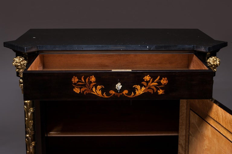 Marquetry Cabinet, Attributed to P. Sormani, France, 1870 For Sale 1