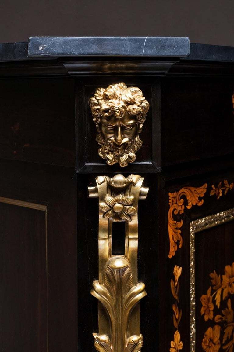 Marquetry Cabinet, Attributed to P. Sormani, France, 1870 For Sale 2