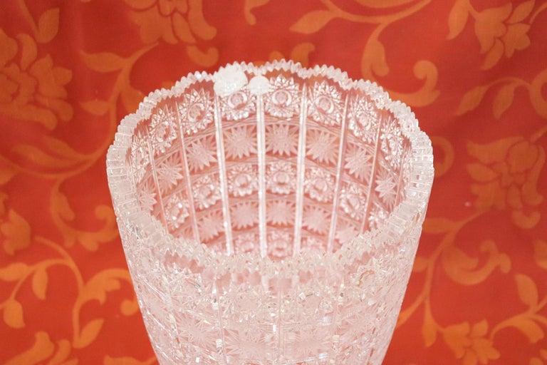 20th Century Bohemian Crystal Vase 1980s At 1stdibs