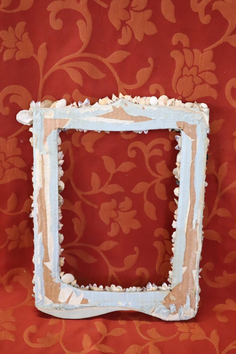 20th Century Italian Vintage Artistic Photo Frame with Shells For Sale 4