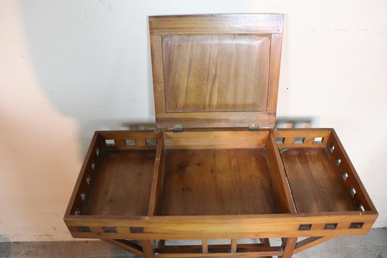 Cherry 20th Century Italian Art Nouveau Sewing Table or Side Table For Sale