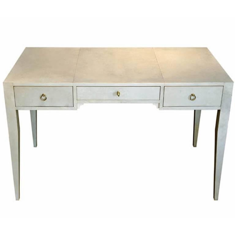 Amazing Handmade Desk in Parchment, Designed by Michel Leo, Made in Italy