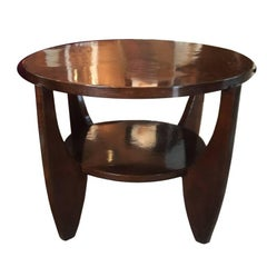 Original French Art Deco Table in Rosewood, 1930s