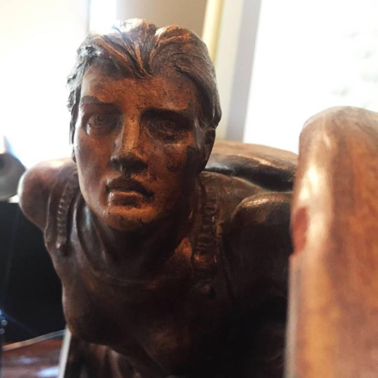 Original Art Deco French Sculpture Signed E. Diosi, 1930s In Excellent Condition For Sale In Milan, IT