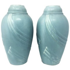 Pair of Art Deco French Vases in Ceramic, 1930s