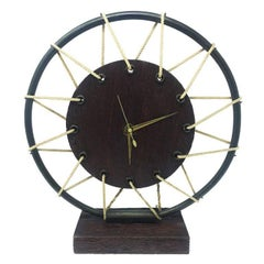 French Table Clock in Wood, 1950s