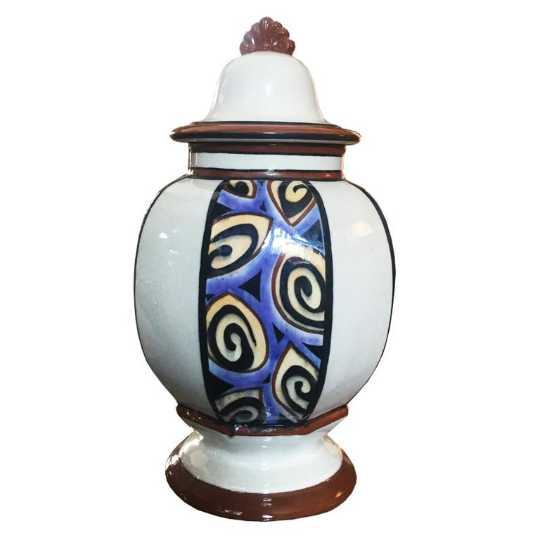 French Art Deco Vase, 1930s For Sale