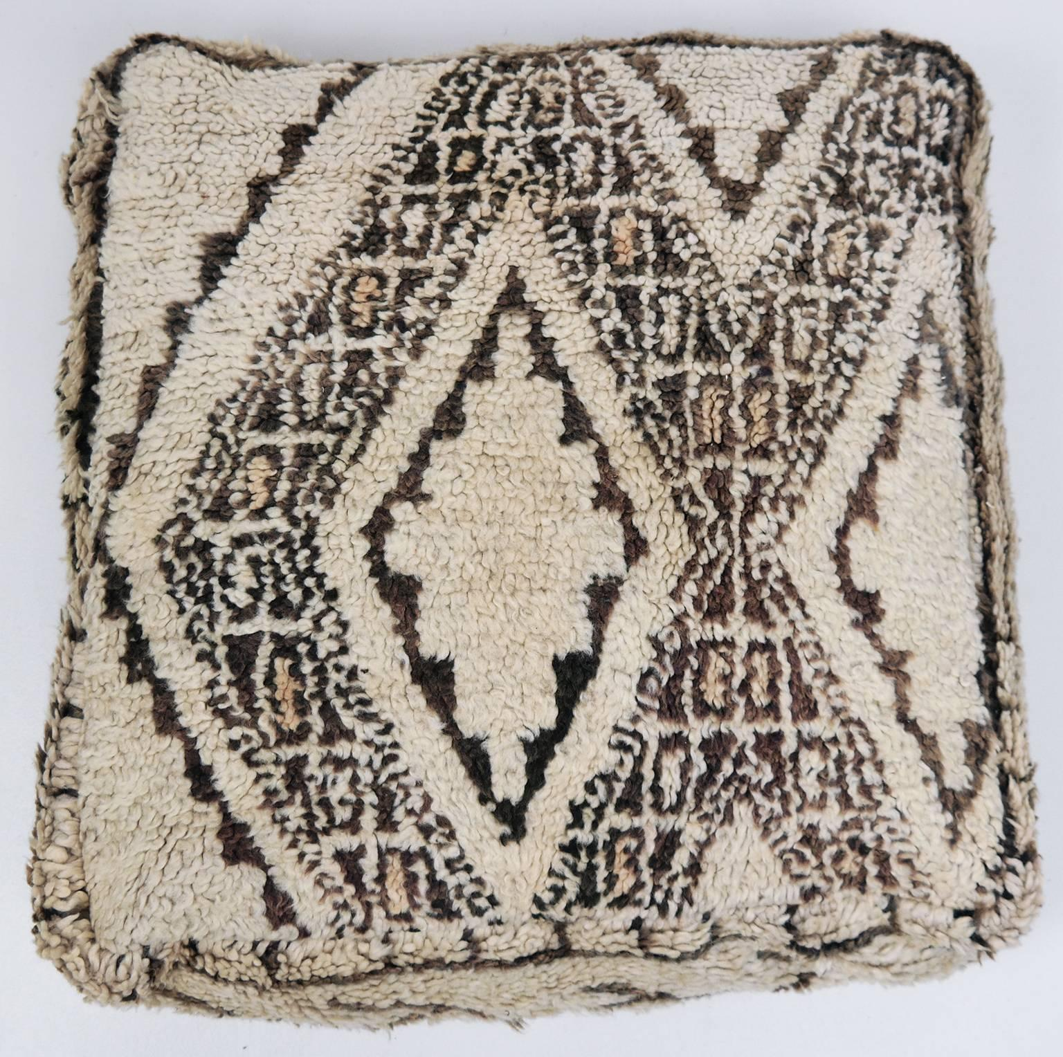 Moroccan Pouf Beni Ourain Floor Cushion Morocco Ottoman For Sale