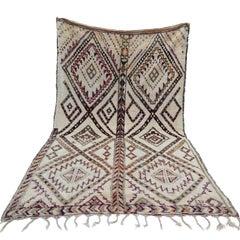Moroccan Beni Ourain Rug Vintage