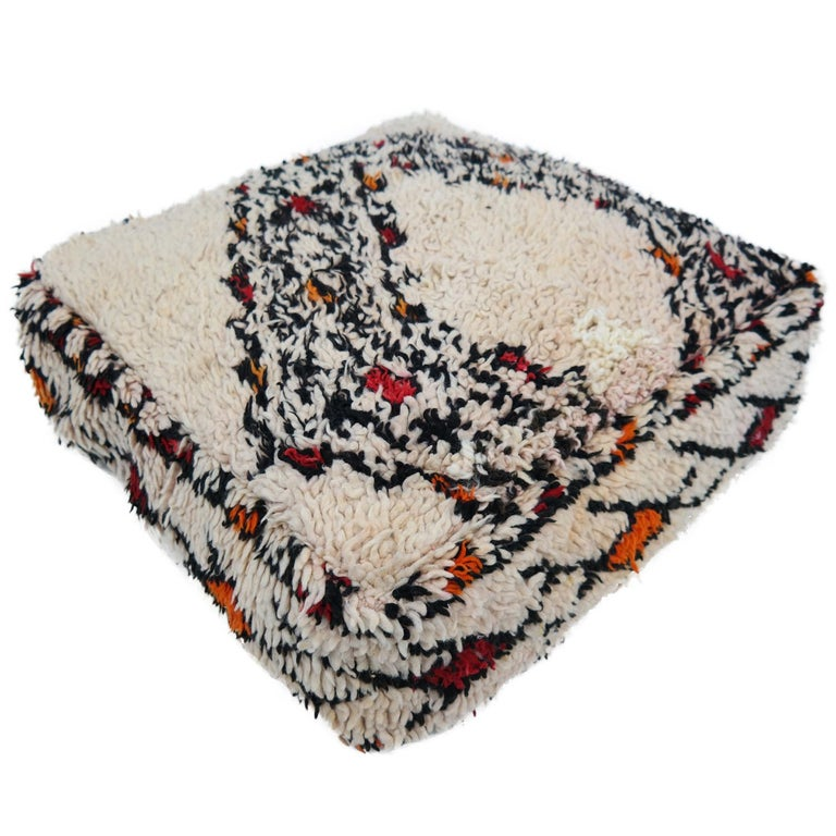 Pouf from Morocco Natural Floor Cushion Moroccan Ottoman Beni Ourain