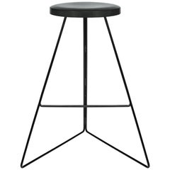 The Coleman Stool, Black and Charcoal