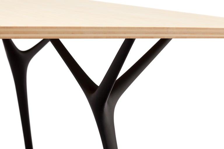 'Stellarnova' Recycled Cast Aluminium Legs & Bamboo Plywood Top Dining Table