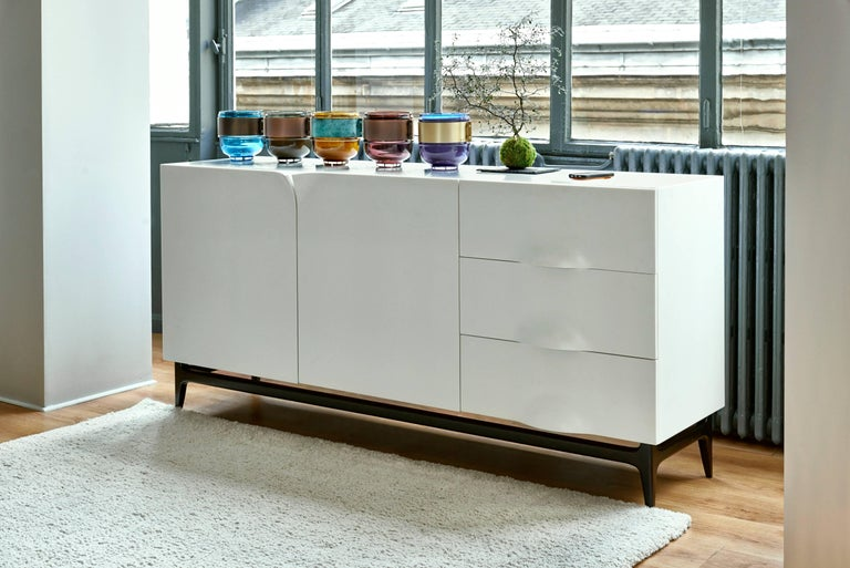 Folio Sideboard, Corian and Amarante Sideboard For Sale 1