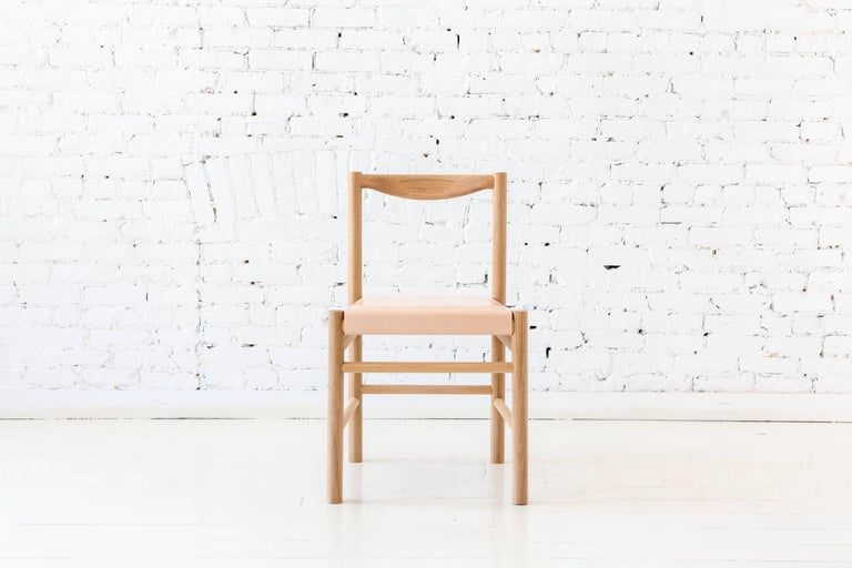 Wood Range Dining Chair in Walnut and Shearling by Fort Standard, In Stock For Sale 8
