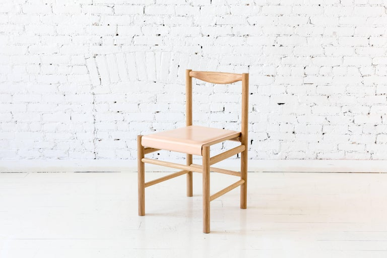 Wood Range Dining Chair in Hard Maple by Fort Standard For Sale 13