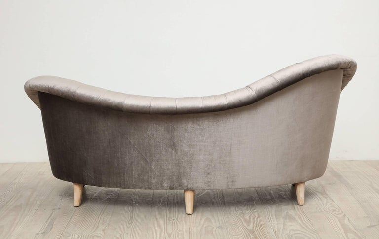 Upholstery Tor Wolfenstein, Organic Shaped Sofa, Circa 1940, Origin: Sweden For Sale