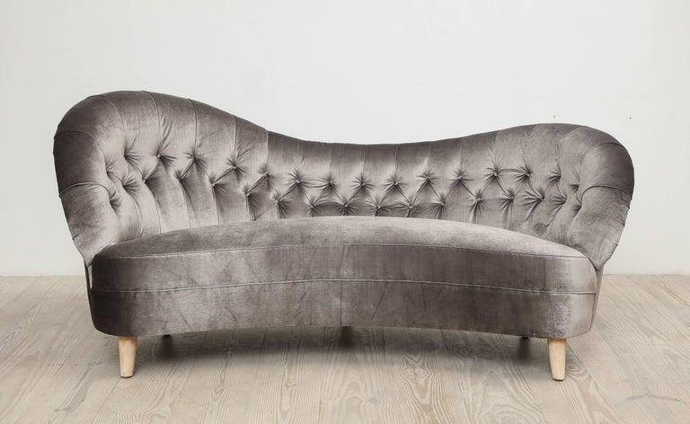 20th Century Tor Wolfenstein, Organic Shaped Sofa, Circa 1940, Origin: Sweden For Sale