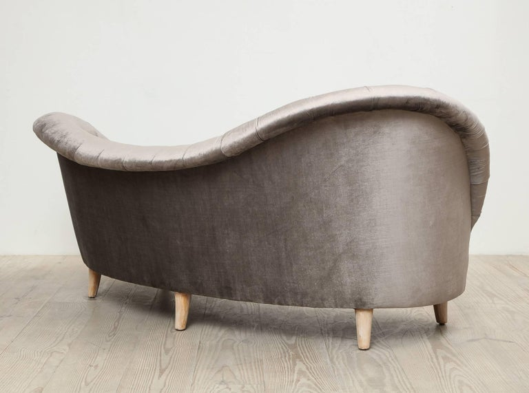 Tor Wolfenstein, Organic Shaped Sofa, Circa 1940, Origin: Sweden In Good Condition For Sale In New York, NY