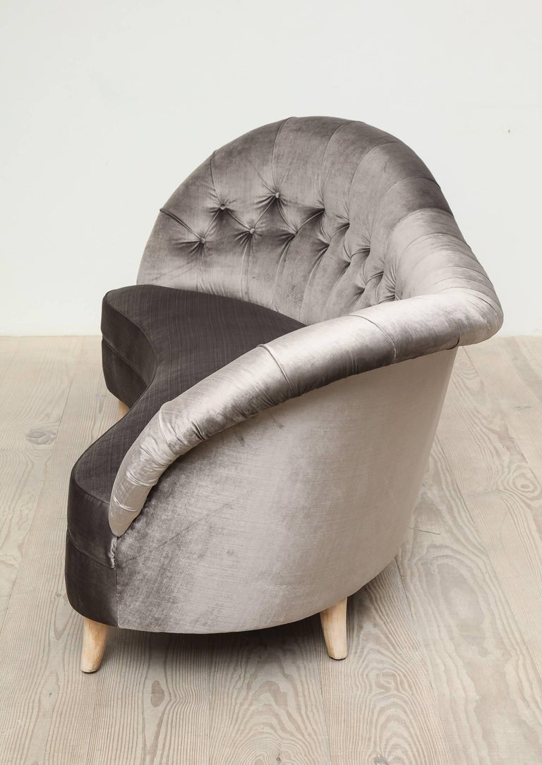 Tor Wolfenstein, Organic Shaped Sofa, Circa 1940, Origin: Sweden For Sale 1