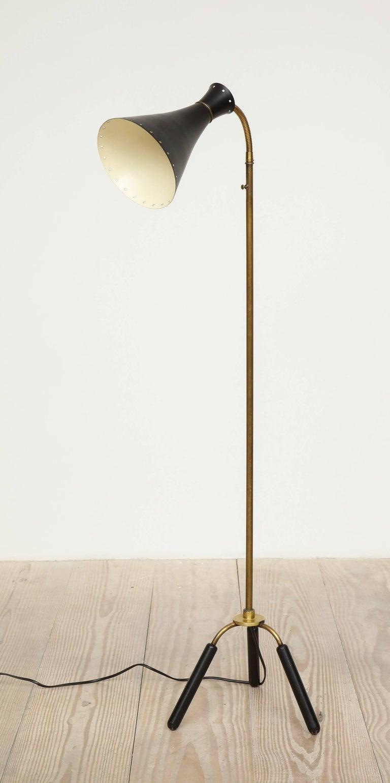 Svend-Åage Holm Sorensen, Danish Adjustable Standing Lamp For Sale 1