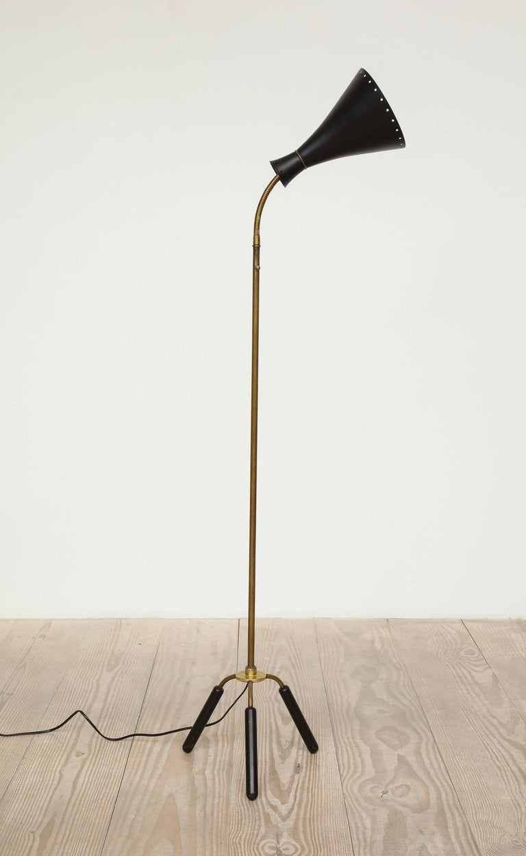 20th Century Svend-Åage Holm Sorensen, Danish Adjustable Standing Lamp For Sale