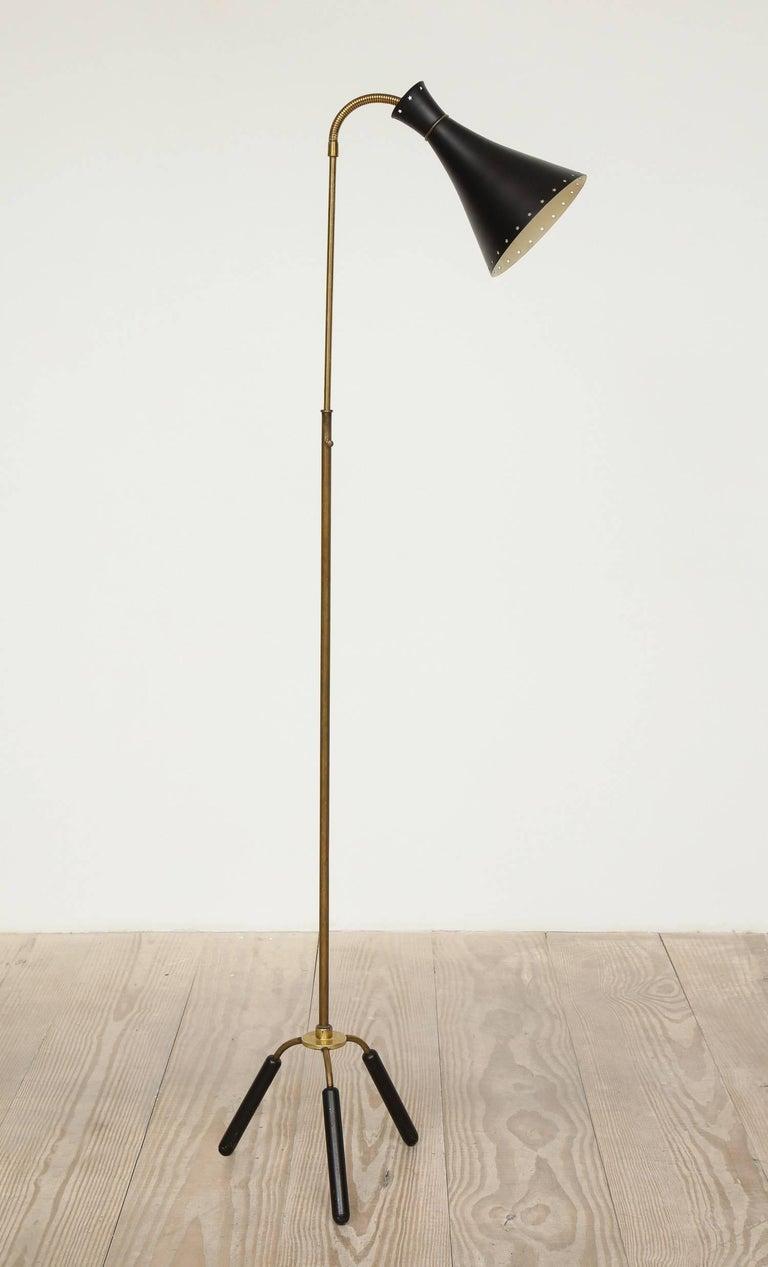 Metal Svend-Åage Holm Sorensen, Danish Adjustable Standing Lamp For Sale