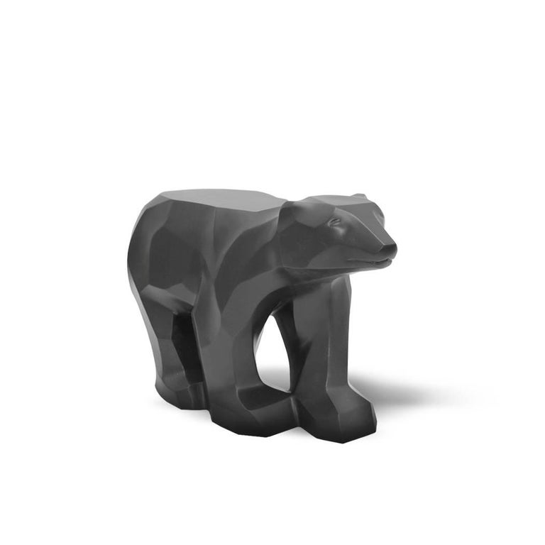 This piece was inspired by the polar bear, a classic Canadian icon. Its form is reminiscent of the purity and beauty of arctic glaciers and striking winter landscapes. Pieces are designed for interiors but will tolerate careful exterior usage.