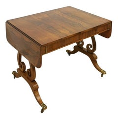 Rosewood Sofa Table by William Trotter of Edinburgh