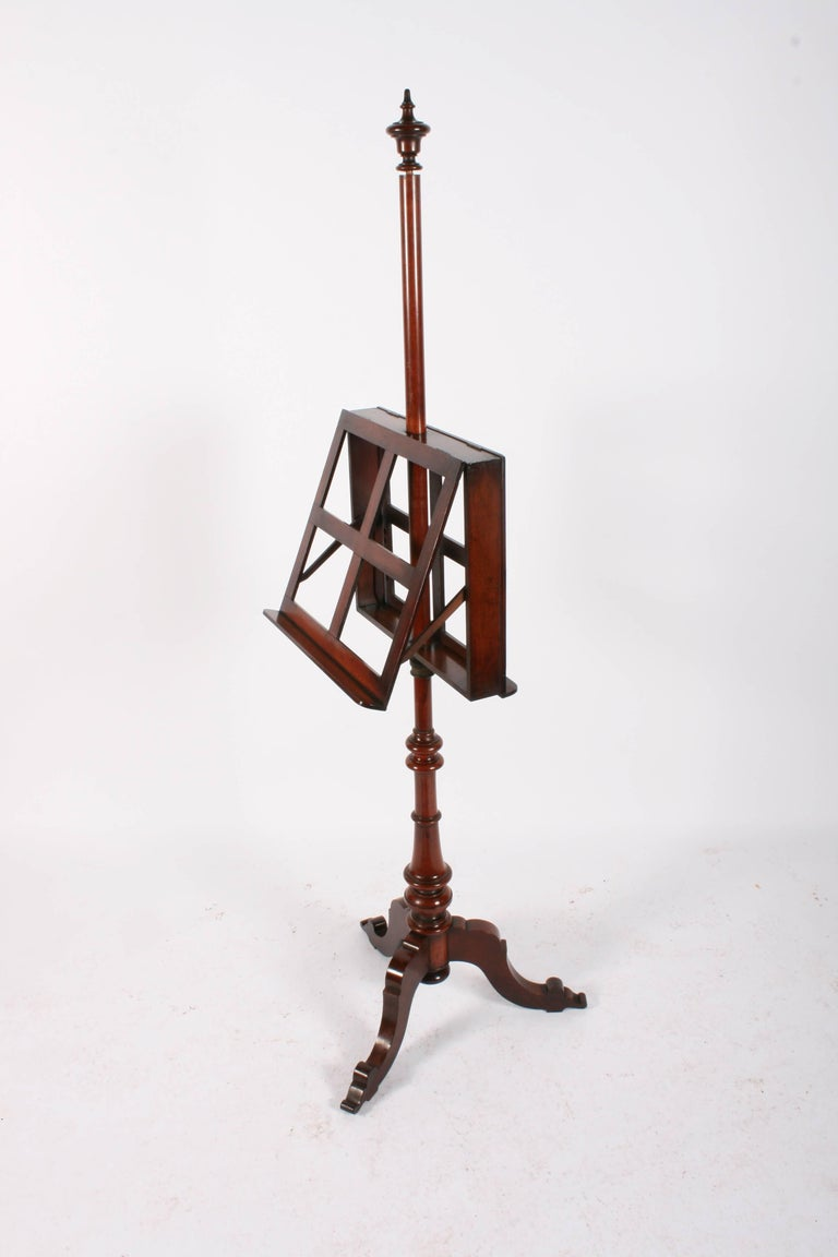 Victorian Mahogany Duet Music Stand, circa 1870 For Sale 6
