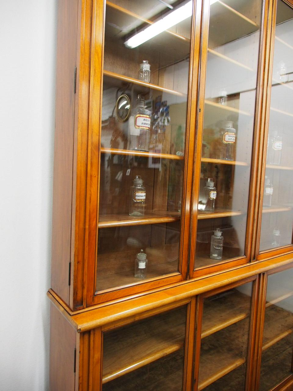 Victorian Red Walnut Cabinet Bookcase Or Display Cabinet, Circa 1880 For  Sale 5
