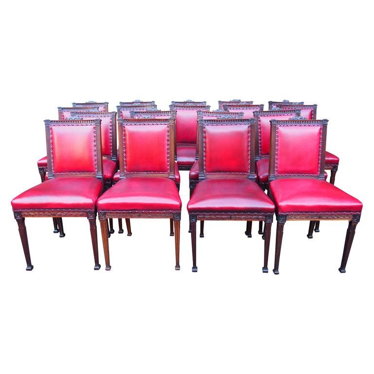 Set of 18 Mahogany Dining Chairs by Morison & Co, Edinburgh