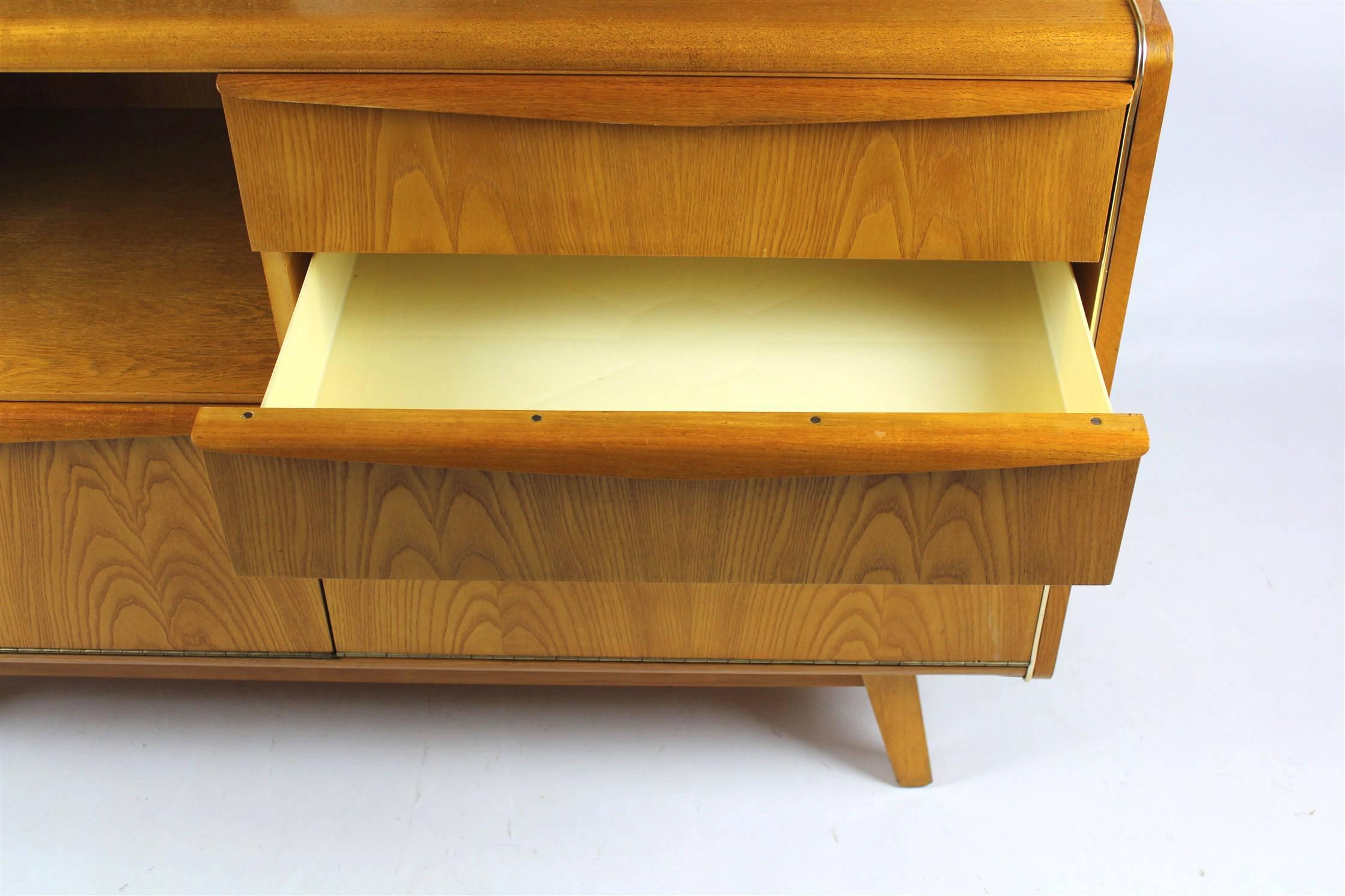Vintage Bar Cabinet By Bohumil Landsman For Jitona, 1960s For Sale 1