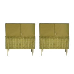 Pair of Sideboards Made in Glass, Italy