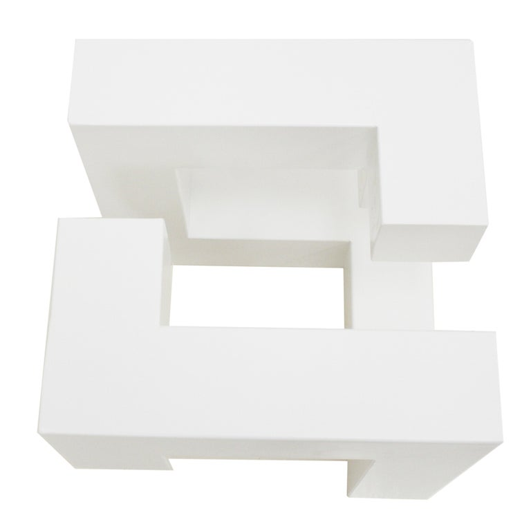 Lacquered White Metal Sculture