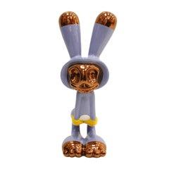 "Massimo Giacon Ceramic Sculpture Rabbit Named ""Coniglieschio"" Edited by Superego"