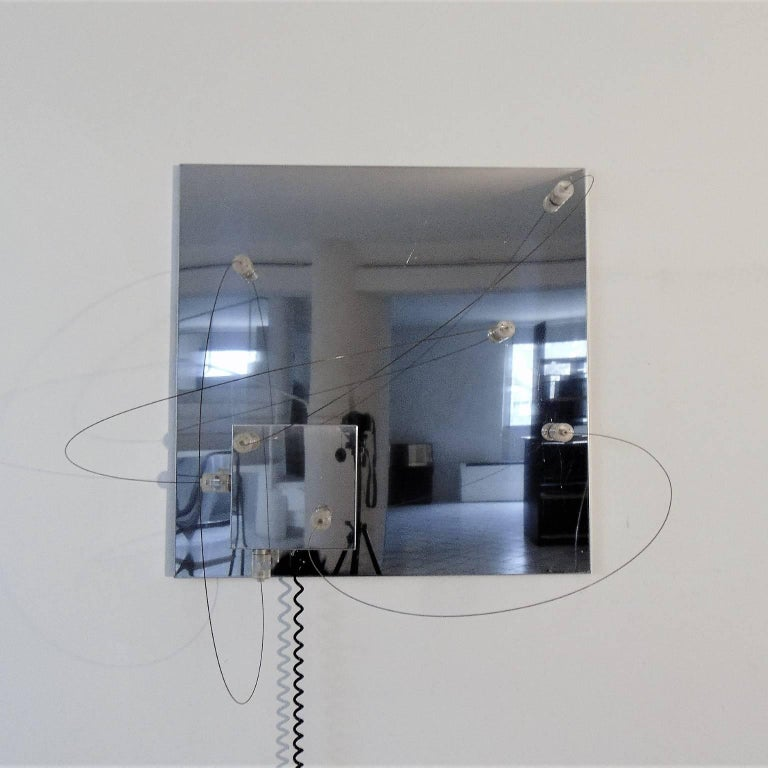 Wall Lamp Bt1 Polished Steel Lucite a.R.D.i.T.i., by Sormani Nucleo, Italy, 1972 In Good Condition For Sale In Arosio, IT