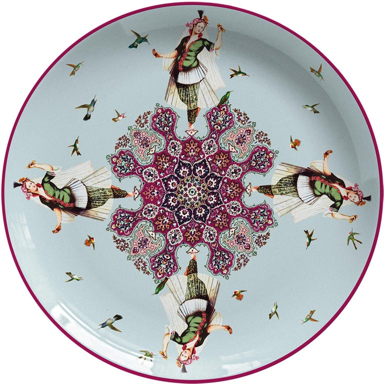 Odalisques Porcelain Dinner Plate by Vito Nesta for Les-Ottomans