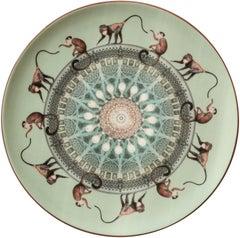 Monkeys Porcelain Dinner Plate by Vito Nesta for Les-Ottomans